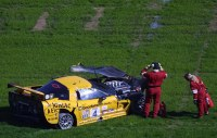 One of the Vettes Blew a Tire & Hit